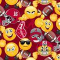 University of Alabama Crimson Tide Cotton Fabric -Emoji