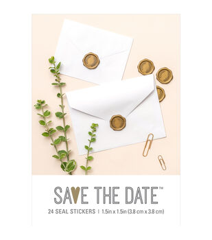 Save the Date 24 pk 1.5''x1.5'' Wax Seal Stickers