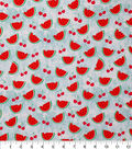 Novelty Cotton Fabric-Watermelons And Cherries