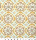 Keepsake Calico Cotton Fabric 43\u0022-Gold Medallion On Blue