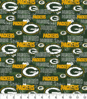 Green Bay Packers Cotton Fabric-Distressed, , hi-res
