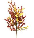 Blooming Autumn Berry Spray-Red & Orange