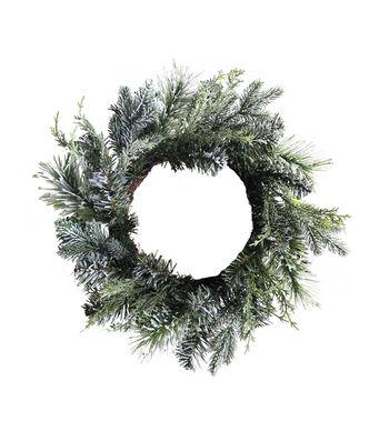 Blooming Holiday Christmas 22'' Glitter Pine Mini Wreath