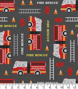 Super Snuggle Flannel Fabric-Fire Rescue