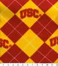 University of Southern California Trojans Fleece Fabric -Argyle