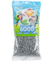 Perler Beads 6,000/Pkg-Grey, , hi-res