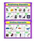 Carson-Dellosa Beginning and Ending Digraphs Chart 6pk