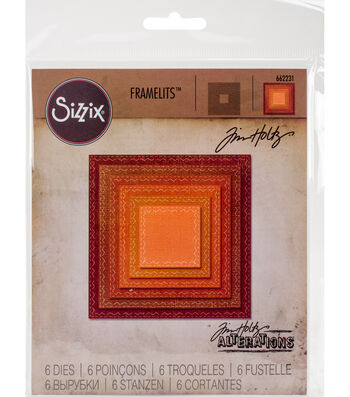 Tim Holtz Framelits Dies-Stitched Squares