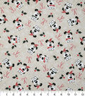 Christmas Cotton Fabric-I Woof You on Cream with Glitter Snowflakes