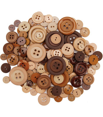 Dress It Up Button Super Value Pack-Biscotti