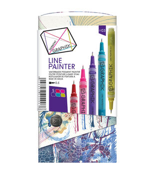 Derwent Graphik 5 Piece Line Painter Set-Tropical