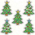 Carson Dellosa Dazzle Stickers Christmas Trees, 75 Per Pack, 12 Packs