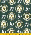 Oakland Athletics Cotton Fabric 58\u0022-Logo