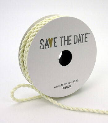 Save the Date 4mm x 15ft Cord-Ivory