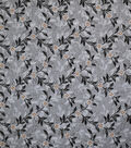 Premium Quilt Cotton Fabric-Diamond Vine Gray