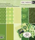 K&Company 12\u0022x12\u0022 Sheer Simplicity Paper Pad-60PK/Green