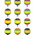 Hot Air Balloons Mini Accents 36/pk, Set of 12 Packs