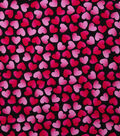 Valentine\u0027s Day Cotton Fabric-Tossed Ombre Hearts