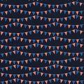 Patriotic Cotton Fabric-Patriotic Flags On Lines