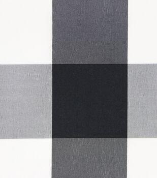 Sew Sweet Plaid Buffalo On Taffeta Fabric-White/Black