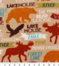 Anti-Pill Fleece Fabric 59\u0022-Bear Lodge