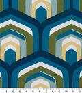 Robert Allen @ Home Upholstery Swatch 55\u0022-Piston Geo Turquoise