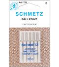 Schmetz Ball Point Machine Needles 5/Pk-Size 10/70