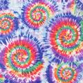 Anti-Pill Plush Fleece Fabric-Orange & Purple Tie Dye