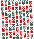 Christmas Cotton Fabric 43\u0027\u0027-Ho! Ho! Ho! on White