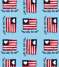 Patriotic Fabric-God Bless The USA Blue