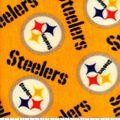 Pittsburgh Steelers Fleece Fabric -Yellow