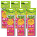 Pineapple Scented Bookmarks, 24 Per Pack, 6 Packs