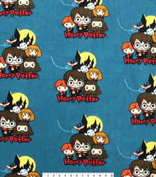 Harry Potter Fleece Fabric-Group Pose