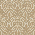 Amiya Taupe New Damask  Wallpaper Sample