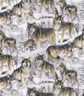 Wilderness Fabric- Wolves In The Snow Fleece