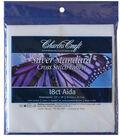Charles Craft Silver Label Aida 18 Count 12\u0027\u0027X18\u0027\u0027-White