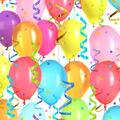 Celebration Cotton Fabric-Balloons & Streamers