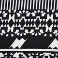 Fast Fashion Bubble Crepe Knit Fabric-Black & White Mantra