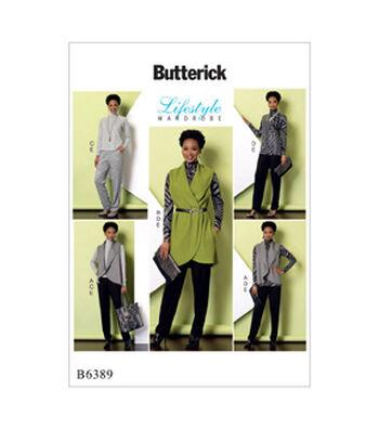 Butterick Pattern B6389 Misses' Top & Tunic, Vest & Pants-Size 16-26
