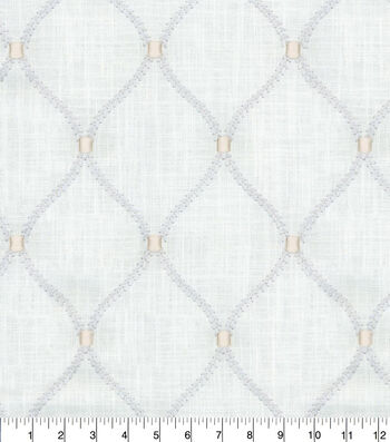 """Home Decor 8""""x8"""" Fabric Swatch-Deane Emb Sterling"""