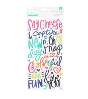 American Crafts Thicker Stickers-Puffy Colorful, , hi-res
