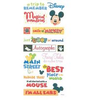 Disney Phrase Stickers-Mickey Themepark, , hi-res