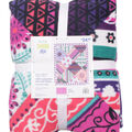 No Sew Fleece Throw 72\u0022-Floral Stripe Patchwork