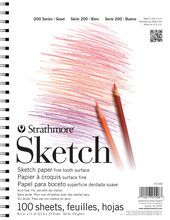 Strathmore 200 Series 100 Sheets 8.5''x11'' Sketch Pad, , hi-res