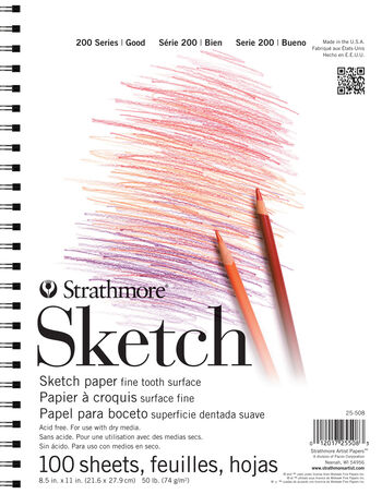 Strathmore 200 Series 100 Sheets 8.5''x11'' Sketch Pad