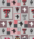 Texas Tech University Red Raiders Fleece Fabric -Gray Block