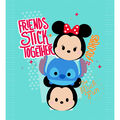 Disney No Sew Fleece Throw 48\u0022-Tsum Twsum Friends Stick Together