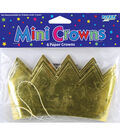 Mini Crowns Crown Gold 6 Count Multipack of 24
