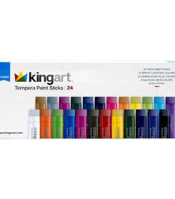 KINGART Tempera Paint Stick Set 24/Pkg