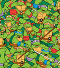 Nickelodeon Teenage Mutant Ninja Turtles Flannel Fabric 42\u0022-Retro